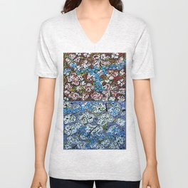 flowers-in-my-brain Unisex V-Neck