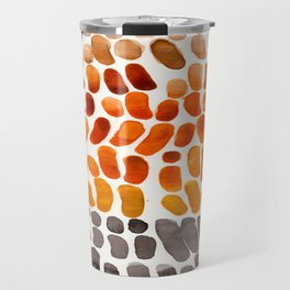 Yellow Ochre Brown Dark Brown Fall Autumn Color Palette Natural Patterns Colorful WatercolorAbstract Travel Mug