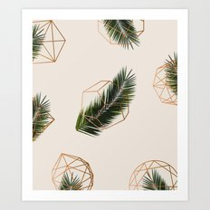 Palm + Geometry #society6 Decor #buyart Art Print