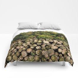 Sad forest devastation Comforters