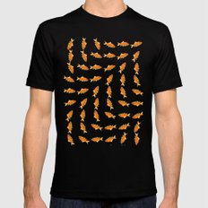 pattern goldfish LARGE Black Mens Fitted Tee