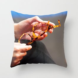 Holding Glasses Throw Pillow