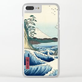Utagawa Hiroshige - Seascape in Satta, 1858 Clear iPhone Case