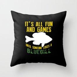 Funny Bluegill Brim Fishing Freshwater Fish Gift Throw Pillow