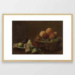 Still Life with Fruit, Henri Fantin-Latour, c. 1880 - c. 1890 Framed Art Print