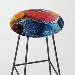 Tropical Flowers - Abstract Art Bar Stool