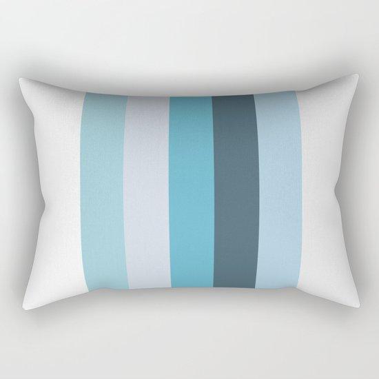 Summer Shades of Blue Rectangular Pillow
