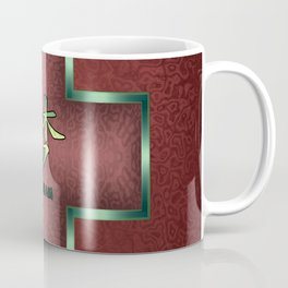 """Dream"" Chinese Calligraphy on Celtic Cross Coffee Mug"