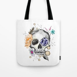 BoHo AF Floral Skull Tote Bag