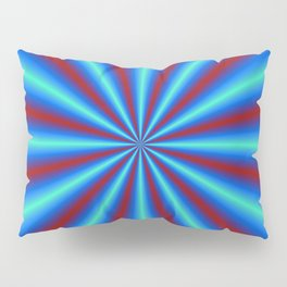 Red and Blue Rays Pillow Sham