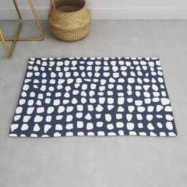 Dots / Navy Rug
