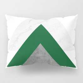 Marble Green Concrete Arrows Collage Pillow Sham