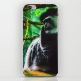 angry monkey iPhone Skin