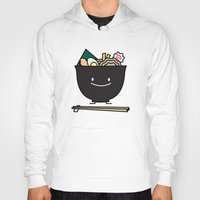 ramen Hoodies featuring Happy Ramen Bowl by Berenice Limon