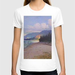 Rays of Sun on the Windward side of Oahu, Hawaiian landscape painting by D. Howard Hitchcock T-shirt