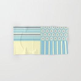 Summer Blues and Yellow Multi Pattern Design Hand & Bath Towel