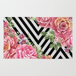 flowers geometric Rug