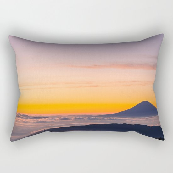 Mountain in the Clouds Rectangular Pillow
