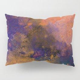 Inner Peace - Orange, red, blue, pastel, textured painting Pillow Sham