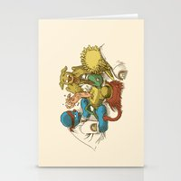 sesame street Stationery Cards featuring Open Sesame by Eric Fan