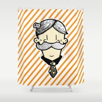 winchester Shower Curtains featuring Mr Winchester  by GÅRF