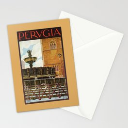 Travel Perugia and Fontana Maggiore Stationery Cards