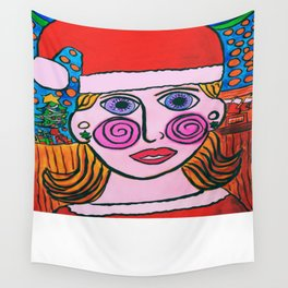 """Mary's Happy Christmas"" Wall Tapestry"