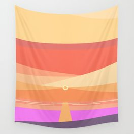 Sunset on the beach at 6:51 pm Wall Tapestry