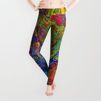 psychedelic Leggings featuring Psychedelic by Frankie Cat