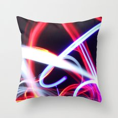 Lightpainting abstract Throw Pillow