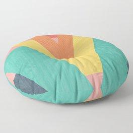 Five Caret Retro Design Floor Pillow