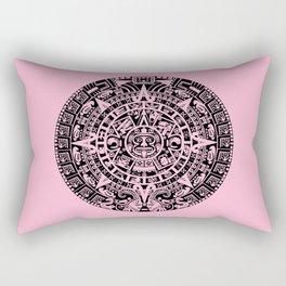 Mayan Calendar // Pink Rectangular Pillow