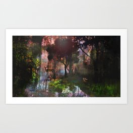 forêt enchantée Art Print