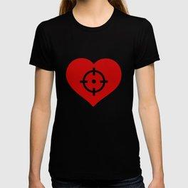 Heart as target T-shirt