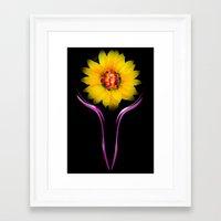 sunflower Framed Art Prints featuring Sunflower by Walter Zettl