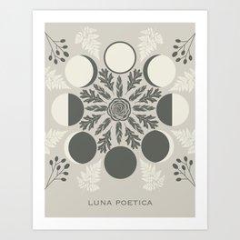 Luna Poetica Art Print