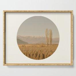 Landscape Circular Serving Tray