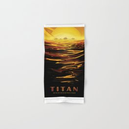 NASA Visions of the Future - Titan: Ride the tides through the throat of Kraken Hand & Bath Towel