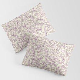 Impression indienne purple and cream. Pillow Sham