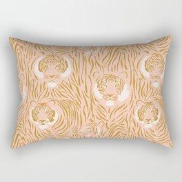 Tigers in Blush + Gold Rectangular Pillow
