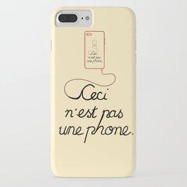Ceci N'est Pas Une Parody iPhone Case