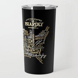 UNITE STATES OF BEARDLY - BLACK Travel Mug