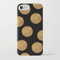 polkadot iPhone & iPod Cases featuring GOLD POLKADOT 1 by wlydesign