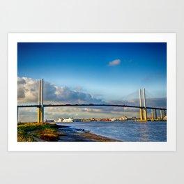 Queen Elizabeth ll Bridge 2 Art Print