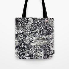 White/Black #2  Tote Bag