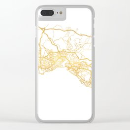 ISTANBUL TURKEY CITY STREET MAP ART Clear iPhone Case