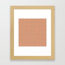 Harvest Pumpkin and White Polka Dots Framed Art Print
