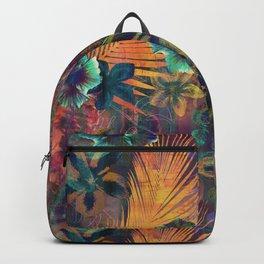 Haleiwa Tropical Orange Backpack