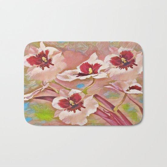 Painted Orchids Bath Mat
