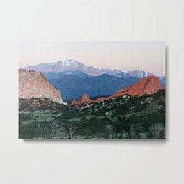 Sunrise at Garden of the Gods and Pikes Peak Metal Print